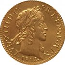 24 - K gold plated 1642 France Louis XIII coins copy