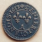 1617 France Denier-Tournois Louis XIII Paris COIN COPY