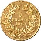 1863 France 5 Francs - Napoleon III coins copy
