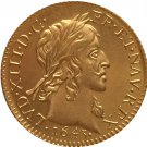 24 - K gold plated 1643 France Louis XIII coins copy