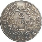 France napoleon I 1806 K 2 Francs coins copy