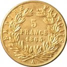 1865 France 5 Francs - Napoleon III coins copy