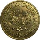 1958 Poland Brass coins COPY 29mm