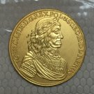 24-k Gpld-Plated 1660 Poland coins COPY 42mm