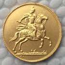 24 K gold plated Poland 1697 COIN COPY 19.4mm