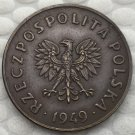 Poland 5 Grosz 1949 COIN COPY 20mm
