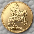24 K gold plated Poland 1697 COIN COPY 23.3mm