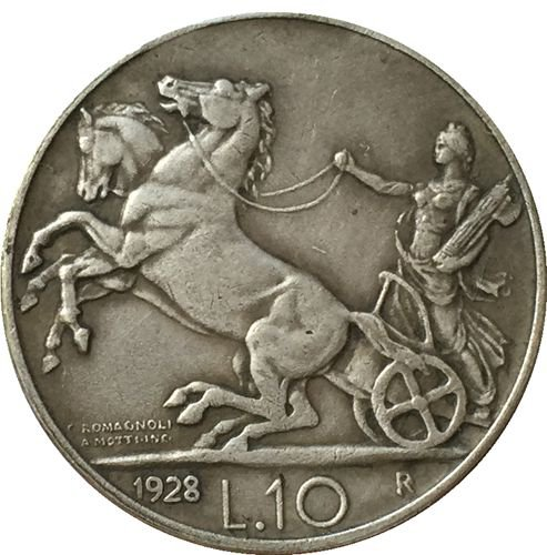 1928 Italy 10 lire COINS COPY