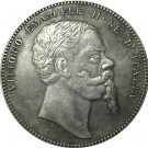 1861 Italy 5 Lire coins COPY 37mm