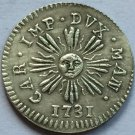 Italy 1 Soldo Charles IV 1731 copy coins