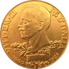 24-K Gold plated 1925 Italy 100 Lire coins copy