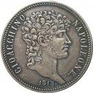 Italian states 1813 5 Lire - Joachim Murat copy coins