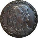 1791 Italy 1 Piastra - Ferdinando IV coins copy