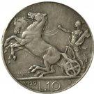 1929 Italy 10 lire COINS COPY