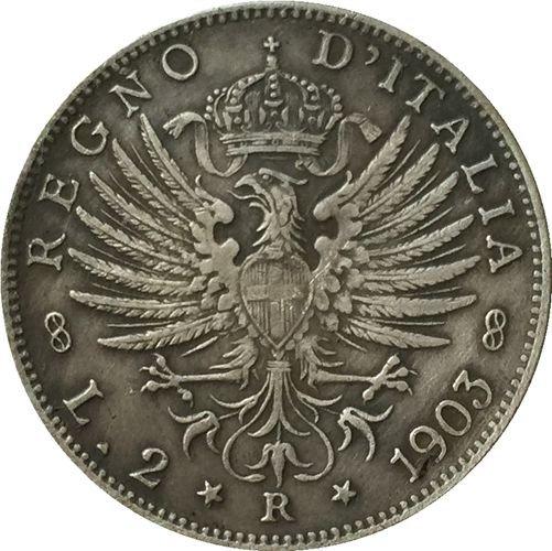 1903 Italy 2 lire COINS COPY