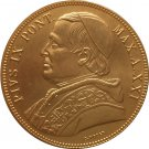 24 - K gold plated 1866 Italian states 100 Lire - Pius IX coins copy