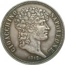 Italian states 1812 5 Lire - Joachim Murat copy coins