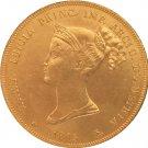 24 - K gold plated 1815 Italian states 40 Lire - Maria Luigia coins copy