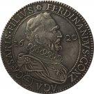 1620 Italy 1 Tallero - Ferrante II coins copy