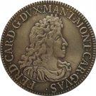 Italian states 1706 1 Scudo - Ferdinand Charles copy coin