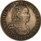 1712 Italy 1 Tollero - Cosimo III coins copy