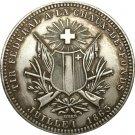 Switzerland 5 Franken Shooting Festival 1863 coins copy
