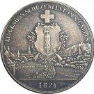 Switzerland 5 Franken Shooting Festival 1874 coins copy