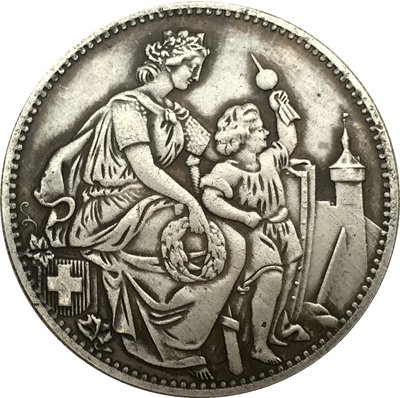 Switzerland 5 Franken Shooting Festival 1865 coins copy