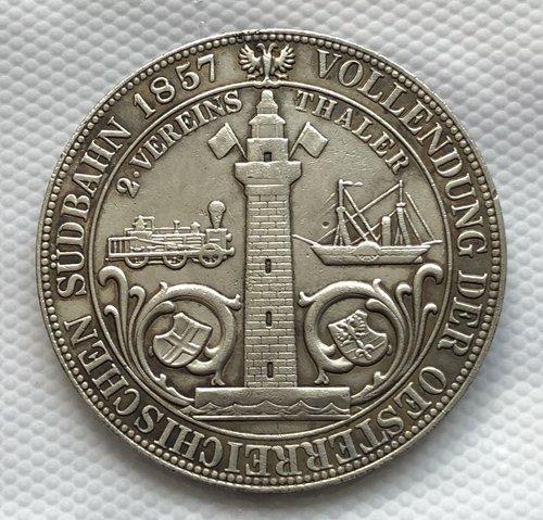 1857 Austria 3 1/2 Gulden COIN COPY 41MM