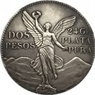 1921 Mexico 2 PEsos coins COPY 39mm