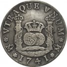 1741 Mexico MF 4 REALES COIN COPY