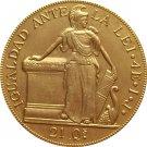 Chile 1841 4 Escudos coin copy 29mm