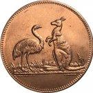 Australia 1 Penny 1850 Tokens COIN COPY 34mm