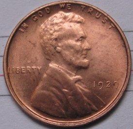 1929 Lincoln Penny Coins Copy 95% coper