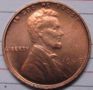 1948 Lincoln Penny Coins Copy 95% coper