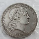 US 1882 Shield Earring Dollar Patterns copy coin