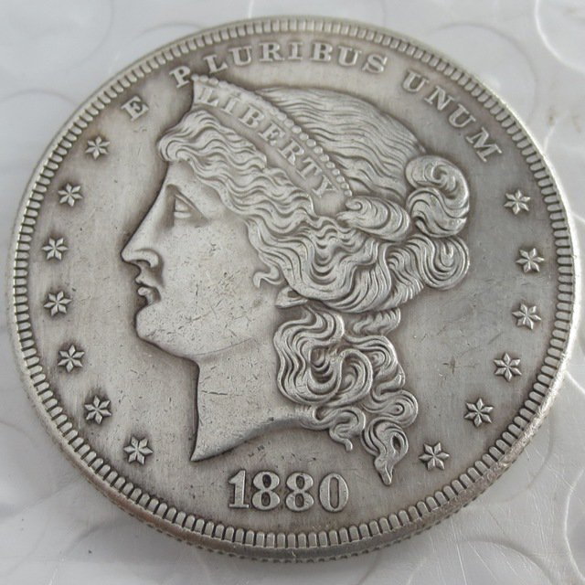 US 1880 Metric Dollar Barber's Head Patterns copy coin