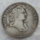 US 1859 French Head Half Dollar Patterns copy coin