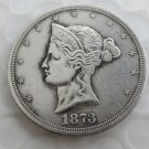 US 1873 T$1 Beaded Coronet Trade Dollar Patterns copy coin