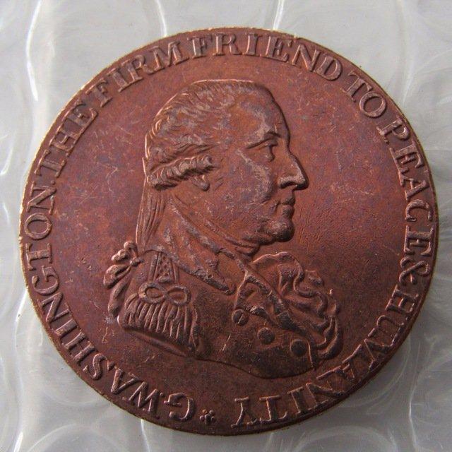 1795 Washington Grate Half Penny Copy Coin