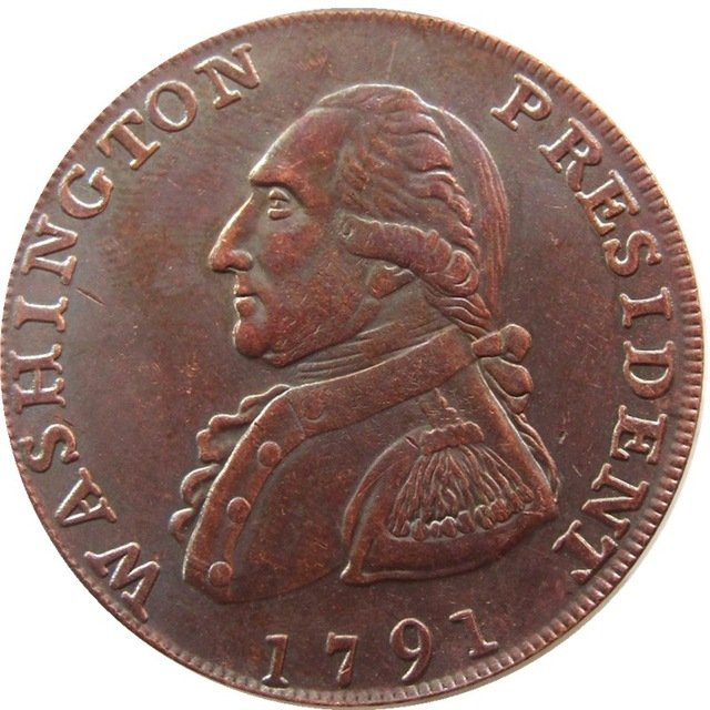 1791 Washington Grate One Penny Copy Coin
