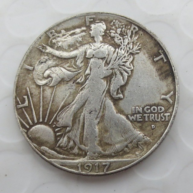 1917-D Reverse (Rugular Strike) Walking Liberty Half Dollar COIN COPY