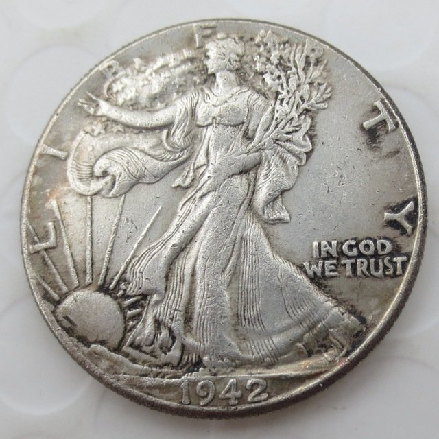 1942-D Walking Liberty Half Dollar COIN COPY