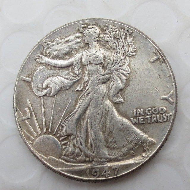 1947-p Walking Liberty Half Dollar COIN COPY