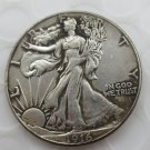 1916-p Walking Liberty Half Dollar COIN COPY