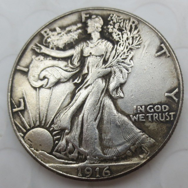 1916-S Walking Liberty Half Dollar COIN COPY