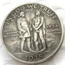 1938S Daniel Boone Bicentennial commemorate half dollar copy coin