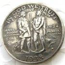 1938D Daniel Boone Bicentennial commemorate half dollar copy coin