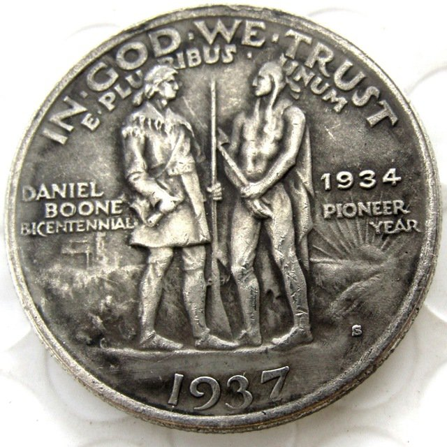 1937S Daniel Boone Bicentennial Commemorate Half Dollar Copy Coin