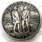 1937D Daniel Boone Bicentennial Commemorate Half Dollar Copy Coin